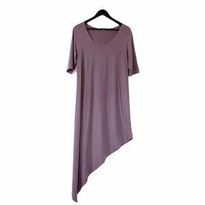 Bryn Walker Purple Asymmetrical Maxi Dress